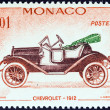 "MONACO - CIRCA 1961: A stamp printed in Monaco from the ""Veteran Cars "" issue shows Chevrolet, 1912, circa 1961. — Stock Photo"