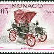 MONACO - CIRCA 1961: A stamp printed in Monaco from the Veteran Cars  issue shows Fiat, 1901, circa 1961.  — Stock Photo