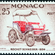 "MONACO - CIRC1961: stamp printed in Monaco from ""VeterCars "" issue shows Rochet-Schneider, 1894, circ1961. — Stockfoto #36862201"