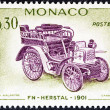 MONACO - CIRCA 1961: A stamp printed in Monaco from the Veteran Cars  issue shows FN-Herstal, 1901, circa 1961.  — Stock Photo