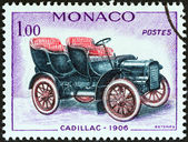"MONACO - CIRCA 1961: A stamp printed in Monaco from the ""Veteran Cars "" issue shows Cadillac, 1906, circa 1961. — Photo"
