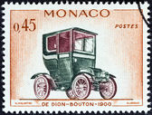 "MONACO - CIRCA 1961: A stamp printed in Monaco from the ""Veteran Cars "" issue shows De Dion-Bouton, 1900, circa 1961. — Stockfoto"