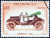 "MONACO - CIRCA 1961: A stamp printed in Monaco from the ""Veteran Cars "" issue shows Chevrolet, 1912, circa 1961. — Stock Photo"