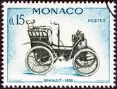 """Monaco - ca 1961: en stämpel tryckta i monaco från """"veteran bilar"""" frågan visar renault, 1898, circa 1961. — Stockfoto"""