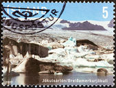 "ICELAND - CIRCA 2007: A stamp printed in Iceland from the ""Glaciers "" issue shows Jokulsarlon, circa 2007. — Stock Photo"