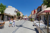 Pedestrian street, Alacati, Izmir province, Turkey — Stock Photo