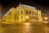 Rudolfinum at night, Prague, Czech Republic — Stock Photo