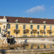 Fountain in Schonbrunn palace courtyard, Vienna, Austria — Stock Photo #38335131