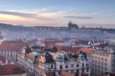 Prague view in the evening, Czech Republic — Stok fotoğraf