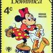 "Stock Photo: DOMINICA - CIRCA 1979: A stamp printed in Dominica from the ""International Year of the Child. Walt Disney Cartoon Characters "" issue shows Minnie Mouse, circa 1979."