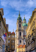 The Church of Saint Nicholas in Prague, Czech Republic — Стоковое фото