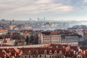 Panoramic view of Prague, Czech Republic — Stok fotoğraf