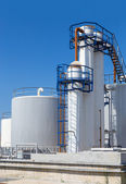 Fuel storage tanks in industry — Stock Photo