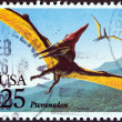 "USA - CIRCA 1989: A stamp printed in USA from the ""Prehistoric Animals"" issue shows Pteranodon, circa 1989. — Stock Photo"