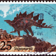 "USA - CIRCA 1989: A stamp printed in USA from the ""Prehistoric Animals"" issue shows Stegosaurus, circa 1989. — Stock Photo"