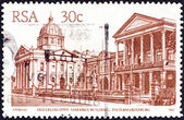 "SOUTH AFRICA - CIRCA 1982: A stamp printed in South Africa from the ""South African Architecture"" issue shows Old Legislative Assembly Building, Pietermaritzburg, circa 1982. — Stock Photo"
