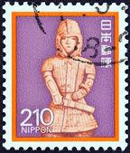 JAPAN - CIRCA 1980: A stamp printed in Japan shows Onjo Bosatsu (relief), Todai Temple, circa 1980. — Foto de Stock