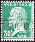 FRANCE - CIRCA 1923: A stamp printed in France shows chemist Louis Pasteur, circa 1923. — Stock Photo