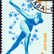 "USSR - CIRC1980: stamp printed in USSR from ""Winter Olympic Games, Lake Placid "" issue shows Speed Skating, circ1980. — Stock Photo #41656181"