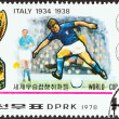 """NORTH KOREA - CIRCA 1978: A stamp printed in North Korea from the """"World Cup Football Championship Winners """" issue shows Italy, 1934, 1938, circa 1978. — Stock Photo #41656221"""