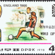 """NORTH KOREA - CIRCA 1978: A stamp printed in North Korea from the """"World Cup Football Championship Winners """" issue shows England, 1966, circa 1978. — Stock Photo #41656235"""