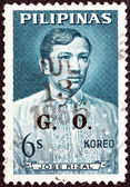 PHILIPPINES - CIRCA 1962: A stamp printed in Philippines shows Jose Rizal, circa 1962. — Stok fotoğraf