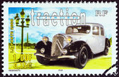 "FRANCE - CIRCA 2000: A stamp printed in France from the ""Philexjeunes 2000 "" issue shows Citroen Traction, circa 2000. — Stock Photo"