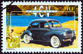 """FRANCE - CIRCA 2000: A stamp printed in France from the """"Philexjeunes 2000 """" issue shows Renault 4CV, circa 2000. — Stock Photo"""