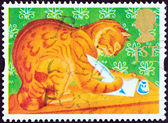 "UNITED KINGDOM - CIRCA 1994: A stamp printed in United Kingdom from the ""Greetings Stamps "" issue shows Orlando the Marmalade Cat, circa 1994. — Stockfoto"