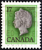 CANADA - CIRCA 1979: A stamp printed in Canada shows Queen Elizabeth II, circa 1979. — Foto de Stock
