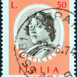 Постер, плакат: ITALY CIRCA 1973: A stamp printed in Italy from the Italian Painters 1st series issue shows Sandro Botticelli circa 1973