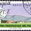 "ITALY - CIRCA 1968: A stamp printed in Italy from the ""Space Telecommunications Centre, Fucino "" issue shows tracking equipment and buildings, circa 1968. — Stock Photo"
