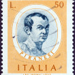 "ITALY - CIRCA 1973: A stamp printed in Italy from the ""Italian Painters (1st series) "" issue shows Giovanni Battista Piranesi, circa 1973. — Stock Photo"