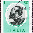 ������, ������: ITALY CIRCA 1973: A stamp printed in Italy from the Italian Painters 1st series issue shows Paolo Veronese circa 1973
