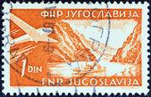 Jugoslawien - ca. 1951: eine Briefmarke gedruckt in Jugoslawien zeigt Eisernen Tor, Donau, ca. 1951. — Stockfoto