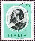 "ITALY - CIRCA 1973: A stamp printed in Italy from the ""Italian Painters (1st series) "" issue shows Paolo Veronese, circa 1973. — Stock Photo"