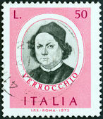 "ITALY - CIRCA 1973: A stamp printed in Italy from the ""Italian Painters (1st series) "" issue shows Andrea del Verrocchio, circa 1973. — Stock Photo"