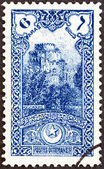 TURKEY - CIRCA 1914: A stamp printed in Turkey shows Seven Towers Castle, Yedikule, circa 1914. — Stock Photo