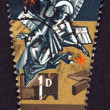 "MALTA - CIRCA 1967: A stamp printed in Malta from the ""Christmas "" issue shows Angels, circa 1967. — Stock Photo"