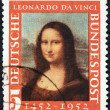 GERMANY - CIRCA 1952: A stamp printed in Germany issued for the 500th birth anniversary of Leonardo da Vinci shows Mona Lisa, circa 1952. — Stock Photo #44258987