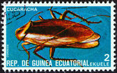 "EQUATORIAL GUINEA - CIRCA 1978: A stamp printed in Equatorial Guinea from the ""Insects "" issue shows Cockroach, circa 1978. — Stock Photo"