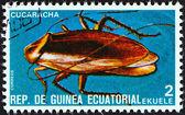 """Gwinea równikowa - około 1978: znaczek wydrukowany w gwinei równikowej od wydania """"owady"""" pokazuje karalucha, około 1978. — Zdjęcie stockowe"""