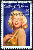 """USA - CIRCA 1995: A stamp printed in USA from the """"Legends of Hollywood """" issue shows Marilyn Monroe, circa 1995. — Stock Photo"""