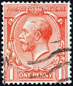 İngiltere - yaklaşık 1912: pul İngiltere gösterir Kral george v, yaklaşık 1912 yazdırılır.. — Stok fotoğraf