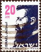 ISRAEL - CIRCA 1986: A stamp printed in Israel shows Dr. Theodor Herzl (1860-1904), circa 1986. — Stock Photo
