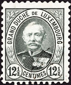 LUXEMBOURG - CIRCA 1891: A stamp printed in Luxembourg shows Grand Duke Adolphe, circa 1891. — Stock Photo