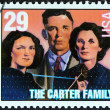 "USA - CIRCA 1993: A stamp printed in USA from the ""American Music Series"" issue shows the Carter Family, circa 1993. — Stock Photo"