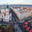 View of Old Town square and St. Nicholas Church, Prague, Czech Republic — Stock Photo #45072069