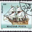 """HUNGARY - CIRCA 1988: A stamp printed in Hungary from the """"Sailing Ships """" issue shows Mayflower, 1620, circa 1988. — Stock Photo"""