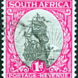 SOUTH AFRICA - CIRCA 1926: A stamp printed in South Africa shows Dromedaris (Van Riebeeck's ship), circa 1926. — Stock Photo